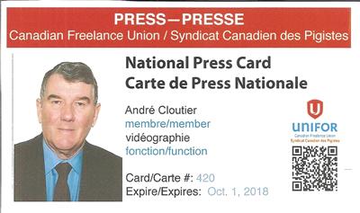 André Cloutier Journaliste