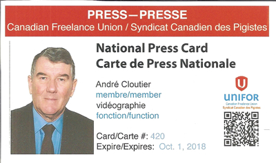 André Cloutier Journaliste